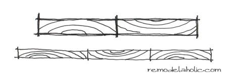 wood grain gluing diagram remodelaholic.com #wood #building