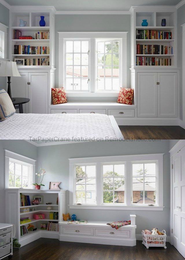 bookcase window seat bookshelf building a with bookshelves ideas - Window Seat With Bookshelves
