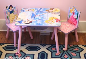 Girls pink and navy bedroom decorations (13)