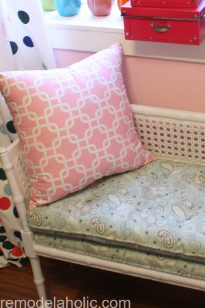 Girls pink and navy bedroom decorations (9)