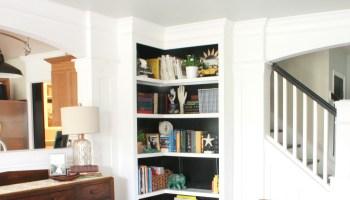 built in corner bookshelves - Built In Bookshelves