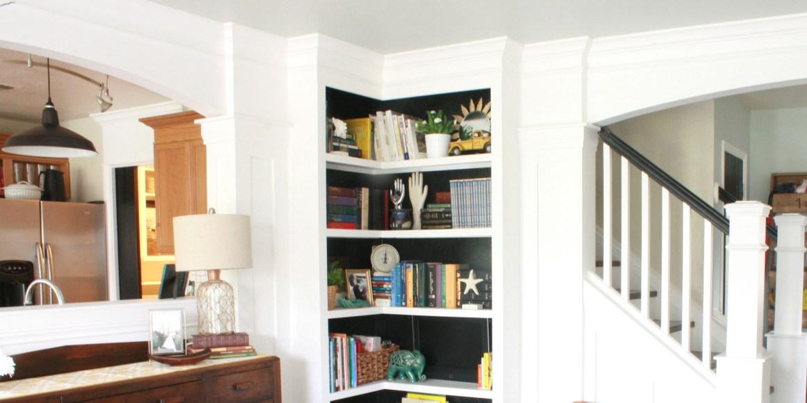 your own corner bookshelves