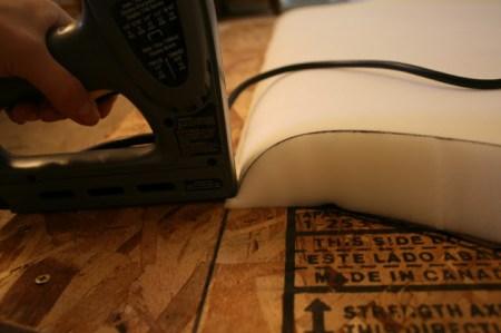 build a tufted headboard using foam