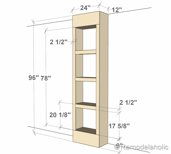 Free Plans For Built-in Bookshelves