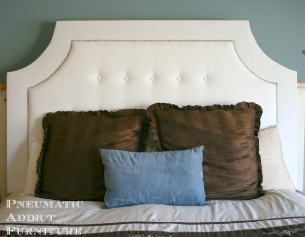 build a nailhead tufted headboard