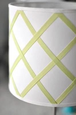 diy ribbon trellis lamp shade