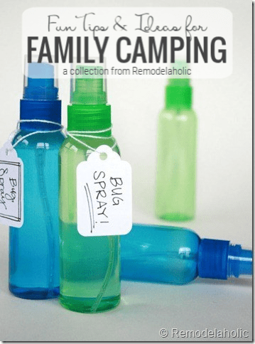 Fun Tips And Ideas For Family Camping Featured On Remodelaholic