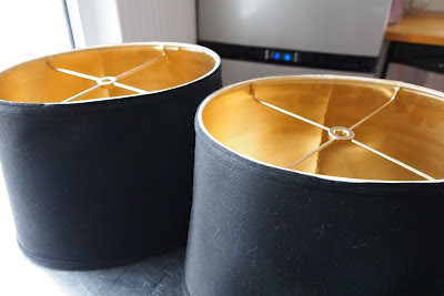 gold painted lamp shades