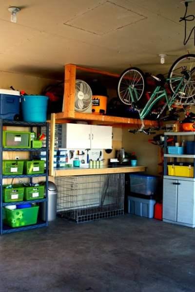 fully organized garage, IHeart Organizing