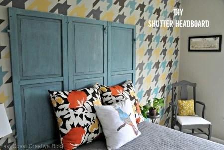 make a shutter headboard, East Coast Creative