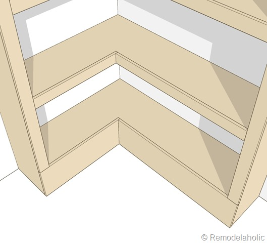 builtin corner shelf plans