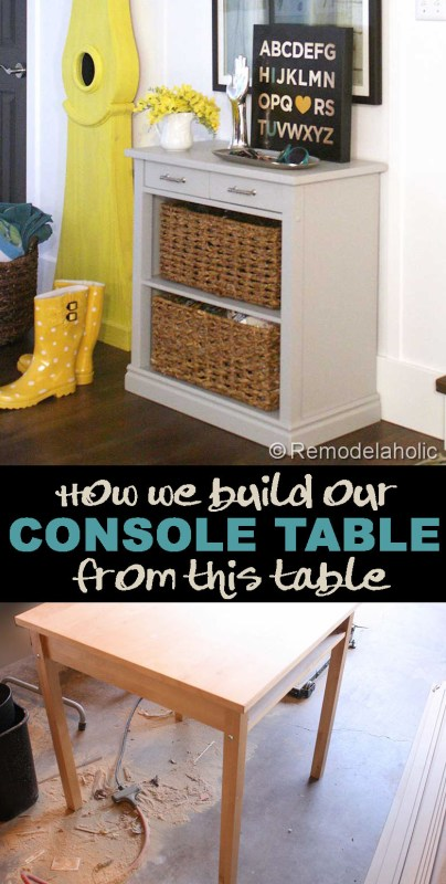 storage console table