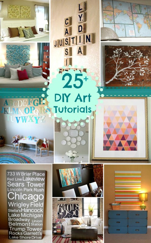 DIY Art Tutorials Remodelaholic 1
