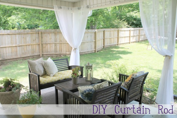 DIY curtain rod, chippa sunshine