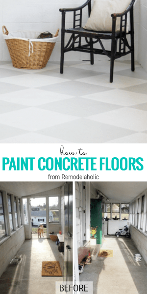 How To Paint Concrete Floors, A Tutorial From Remodelaholic