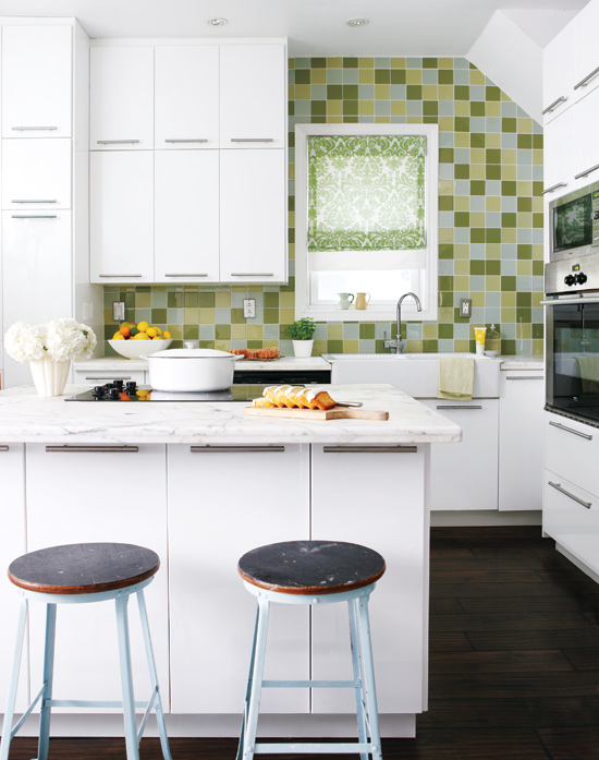 Style at Home green glass tile wall