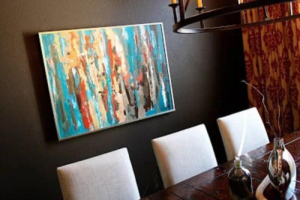 abstract DIY wall art great colors