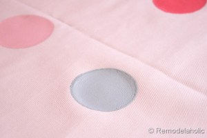 confetti drapes tutorial polka dot drapes girls bedroom window coverings window panels (12)