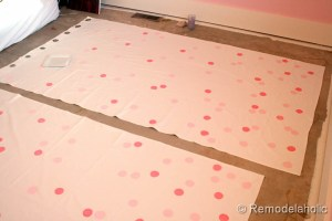 confetti drapes tutorial polka dot drapes girls bedroom window coverings window panels (15)