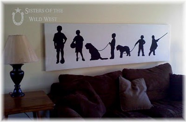family silhouette wall art project