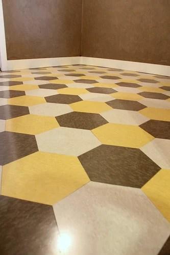 diy hexagon vinyl tile, Kara Paslay Designs
