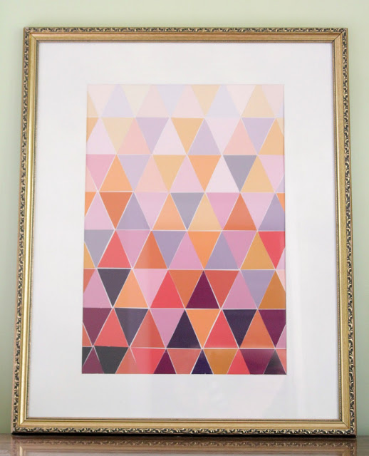 ombre paint chip art DIY project