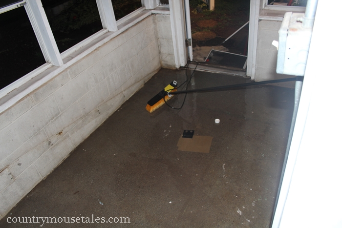 How to paint a concrete floor remodelaholic prepare a concrete floor for paint by scrubbing and etching tyukafo