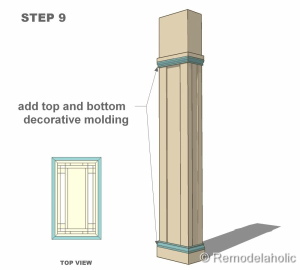 Free interior column plans - Decorative columns interior ideas ...
