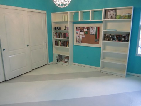 striped painted concrete floor, Anythingology