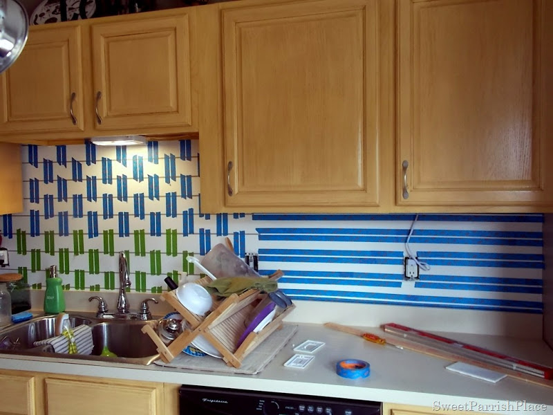 Painted Subway Tile Backsplash Remodelaholic