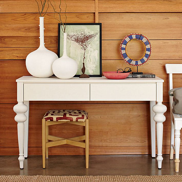 white-console-table