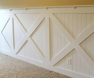 Barn Door Wainscoting Tutorial