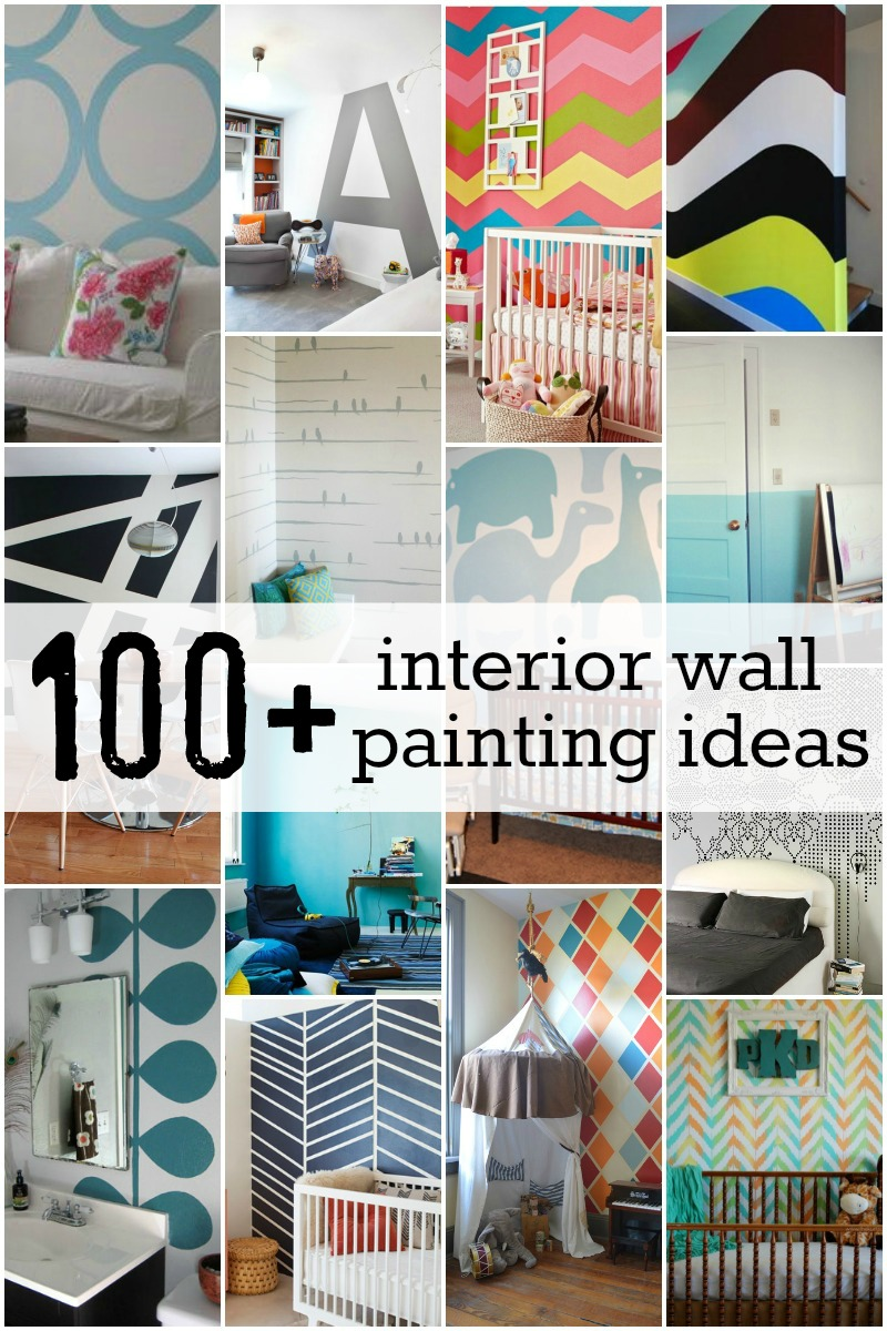 Interior Wall Painting Ideas Part - 15: 100 Interior Wall Painting Ideas At Remodelaholic.com #painting #walls  #design #