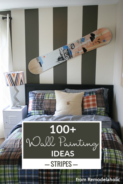 100 Paint Ideas For Interior Walls, Stripes, From @Remodelaholic