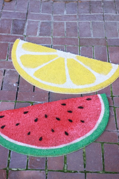 DIY fruit welcome mats, The House That Lars Built