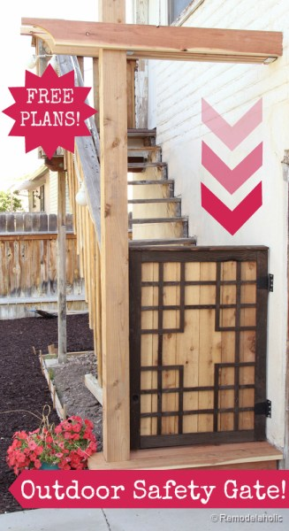 Free Baby gate plans Free Pet gate plans outdoor project-4button