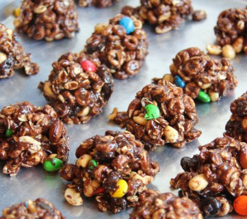 No Bake Trail Mix Cookies
