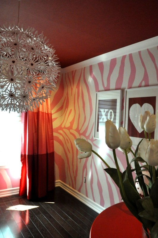 animal print large scale painted wall
