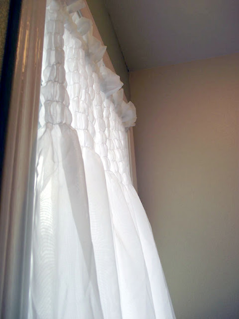 beautiful shirred curtain tutorial, I'm a Mom Not a Professional on Remodelaholic