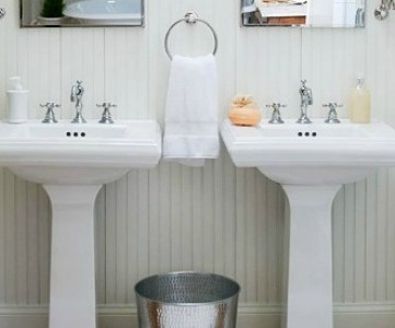 Get This Look: Bright White Double Vanity Bath