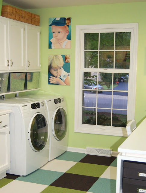 colorful organized laundry room office studio, Paula Prass