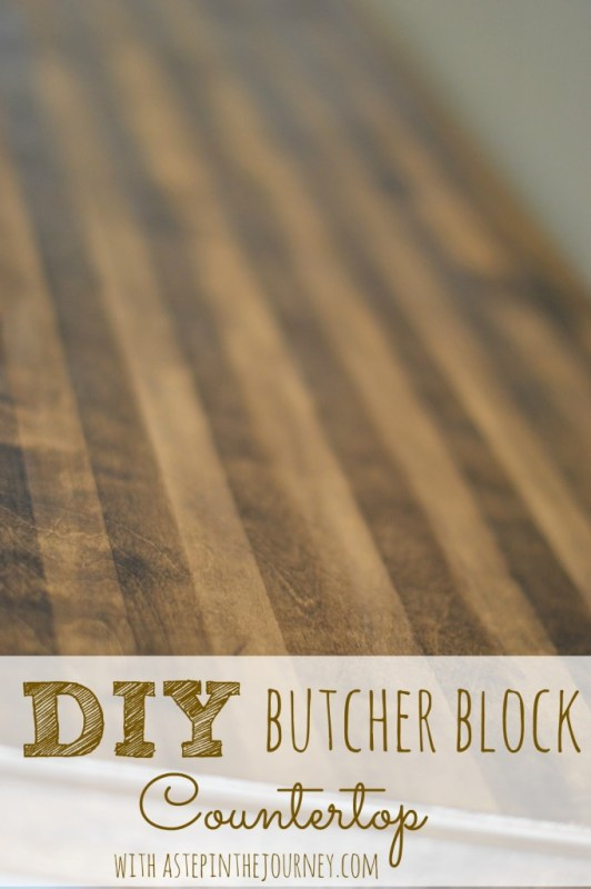 diy butcher block countertop for a repurposed dresser