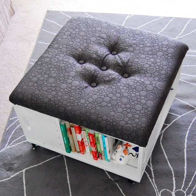 diy ottomans | diy rolling storage ottoman from crates, Mon Makes Things