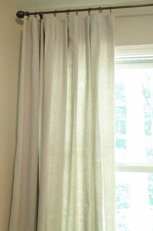 drop cloth window curtain tutorial, Salvage Savvy on Remodelaholic