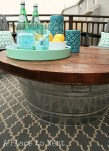guest outdoor coffee table