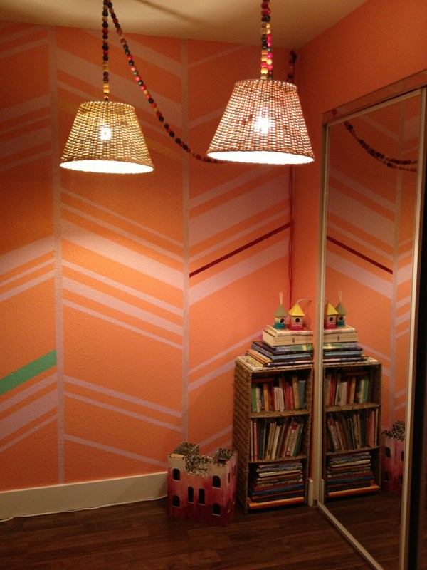 herringbone teen girl painted wall