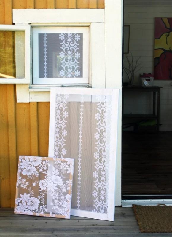 lace window screens, Design Madde