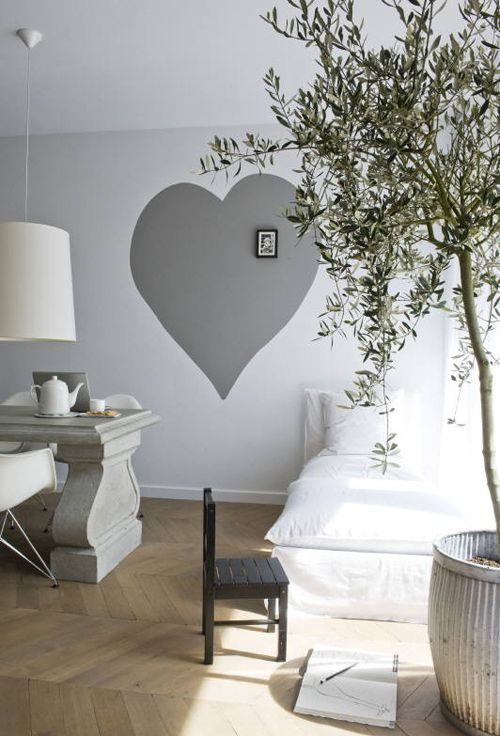 large shape on wall