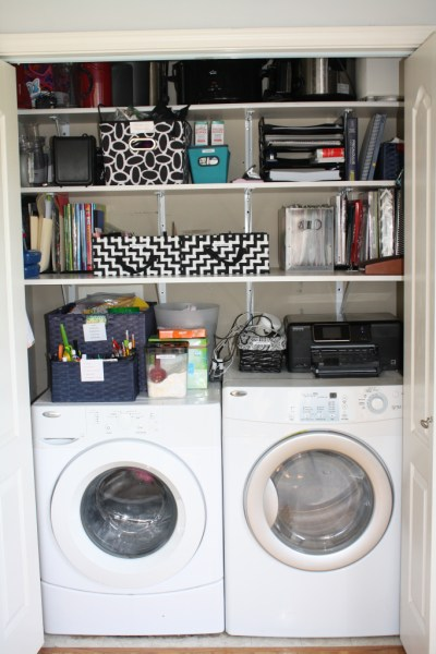 laundry closet and office, Organized by Helen