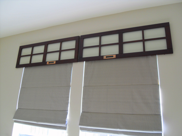 old cd cabinet doors as window cornices, Home Sweet Homemade on Remodelaholic